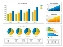Report with financial investment chart Stock Image