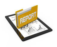 Report folder Royalty Free Stock Photo