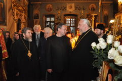 The report from the funeral of the Bishop of Gomel and Zhlobin Aristarchus (Stankevich) April 24, 2012. Stock Photo