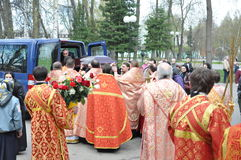 The report from the funeral of the Bishop of Gomel and Zhlobin Aristarchus (Stankevich) April 24, 2012. Royalty Free Stock Photos