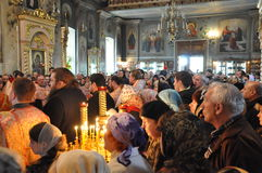The report from the funeral of the Bishop of Gomel and Zhlobin Aristarchus (Stankevich) April 24, 2012. Stock Image