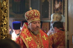 The report from the funeral of the Bishop of Gomel and Zhlobin Aristarchus (Stankevich) April 24, 2012. Stock Images