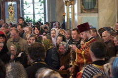 The report from the funeral of the Bishop of Gomel and Zhlobin Aristarchus (Stankevich) April 24, 2012. Stock Photography