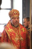 The report from the funeral of the Bishop of Gomel and Zhlobin Aristarchus (Stankevich) April 24, 2012. Stock Photos