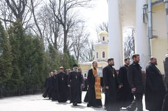 The report from the funeral of the Bishop of Gomel and Zhlobin Aristarchus (Stankevich) April 24, 2012. Royalty Free Stock Images