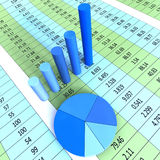 Report Graph Shows Financial Profit And Information. Report Graph Representing Statistic Investment And Data Stock Photo