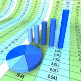Report Graph Shows Infograph Financial And Data. Report Graph Indicating Data Graphic And Forecast Stock Photography