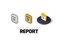 Report icon in different style Royalty Free Stock Photo