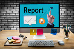 Report Information News Progress Research, Credit Report text. On paper sheet , business documents on office , Incident injury report form, Report, research Royalty Free Stock Photo