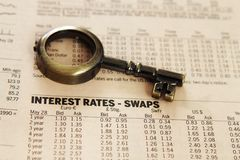 Report - interest rates Stock Photo