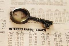 Report - interest rates Stock Photo