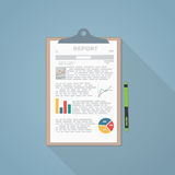 Report paper Stock Images