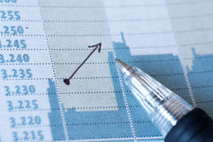 Report paper investment Royalty Free Stock Photo