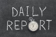 Daily report Stock Image