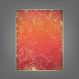Report pink and red sun rise vintage background. Illustration, valentine background Royalty Free Stock Images