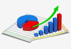 Report. Finance graph organization data planning business Stock Images