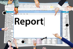 Report Reporting Resulting Information Article Concept Royalty Free Stock Images