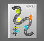 Report road blank,  illustration Royalty Free Stock Photography