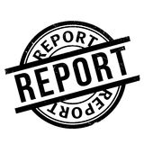 Report rubber stamp. Grunge design with dust scratches. Effects can be easily removed for a clean, crisp look. Color is easily changed Stock Image