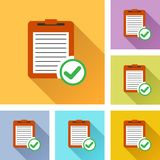 Report set icons. Illustration of report colorful design set icons Stock Image