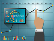 Report statistics concept. Comparing statistics in business,  infographics report charts Stock Photos