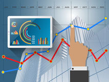 Report statistics concept. Comparing statistics in business,  infographics report charts Stock Photography