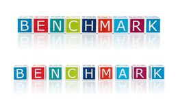 Report Topics With Color Blocks. Benchmark. Stock Photos