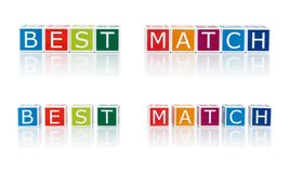 Report Topics With Color Blocks. Best Match. Stock Photo