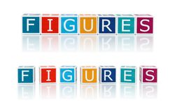 Report Topics With Color Blocks. Figures. Royalty Free Stock Photos