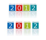 Report Topics With Color Blocks. 2012 year. Stock Photography