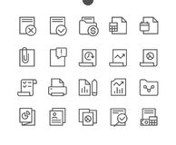 Report UI Pixel Perfect Well-crafted Vector Thin Line Icons 48x48 Ready for 24x24 Grid for Web Graphics and Apps with. Editable Stroke. Simple Minimal Pictogram Royalty Free Stock Photo