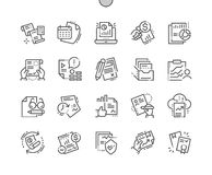 Report Well-crafted Pixel Perfect Vector Thin Line Icons 30 2x Grid for Web Graphics and Apps. Simple Minimal Pictogram Royalty Free Stock Images