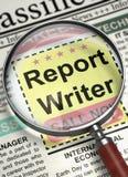 Report Writer Job Vacancy. 3D. Stock Image