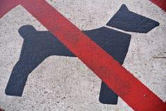 Reportage d'interdiction pour des chiens photos stock