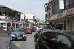 Reportage de photo d'Ulcinj de la rue principale rr de Monténégro ulqinaku d'ali de hafiz photos stock