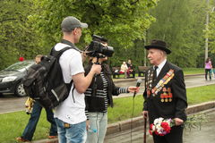 Reportage about Veteran of War Royalty Free Stock Image