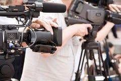 Reportaje de la TV fotografía de archivo