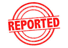 REPORTED Rubber Stamp Stock Photography