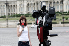 Reporter Stock Image
