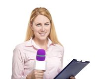 Reporter Royalty Free Stock Photography