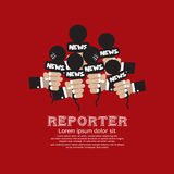 Reporter Concept. Royalty Free Stock Photo