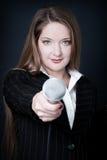 Reporter femminile fotografia stock libera da diritti
