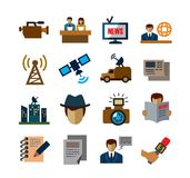 Reporter icons Royalty Free Stock Image