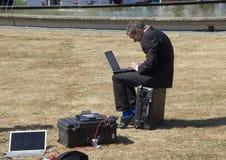 Reporter with Laptop Stock Photos