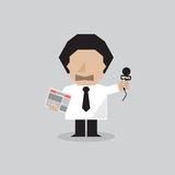 Reporter Man Vector Illustration Stock Image