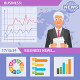 Reporter and news business Stock Image