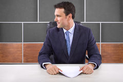 Reporter in News Room Stock Images