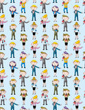 Reporter people seamless pattern Royalty Free Stock Photography