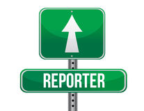 Reporter road sign illustration design Royalty Free Stock Image