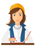 Reporter with writing-pad Royalty Free Stock Photography